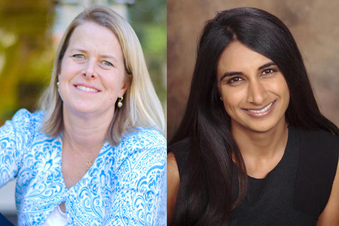 Megan Swezey Fogarty and Preeti Hehmeyer - from Stanford Today article
